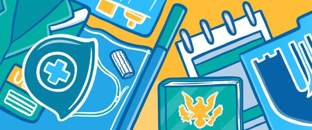 Medical Uniform and University Logo