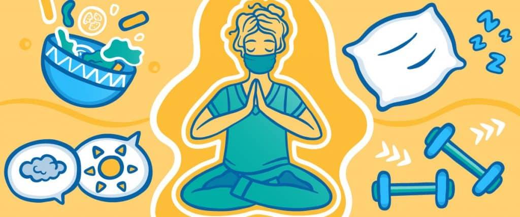 PA Meditating and Self Care